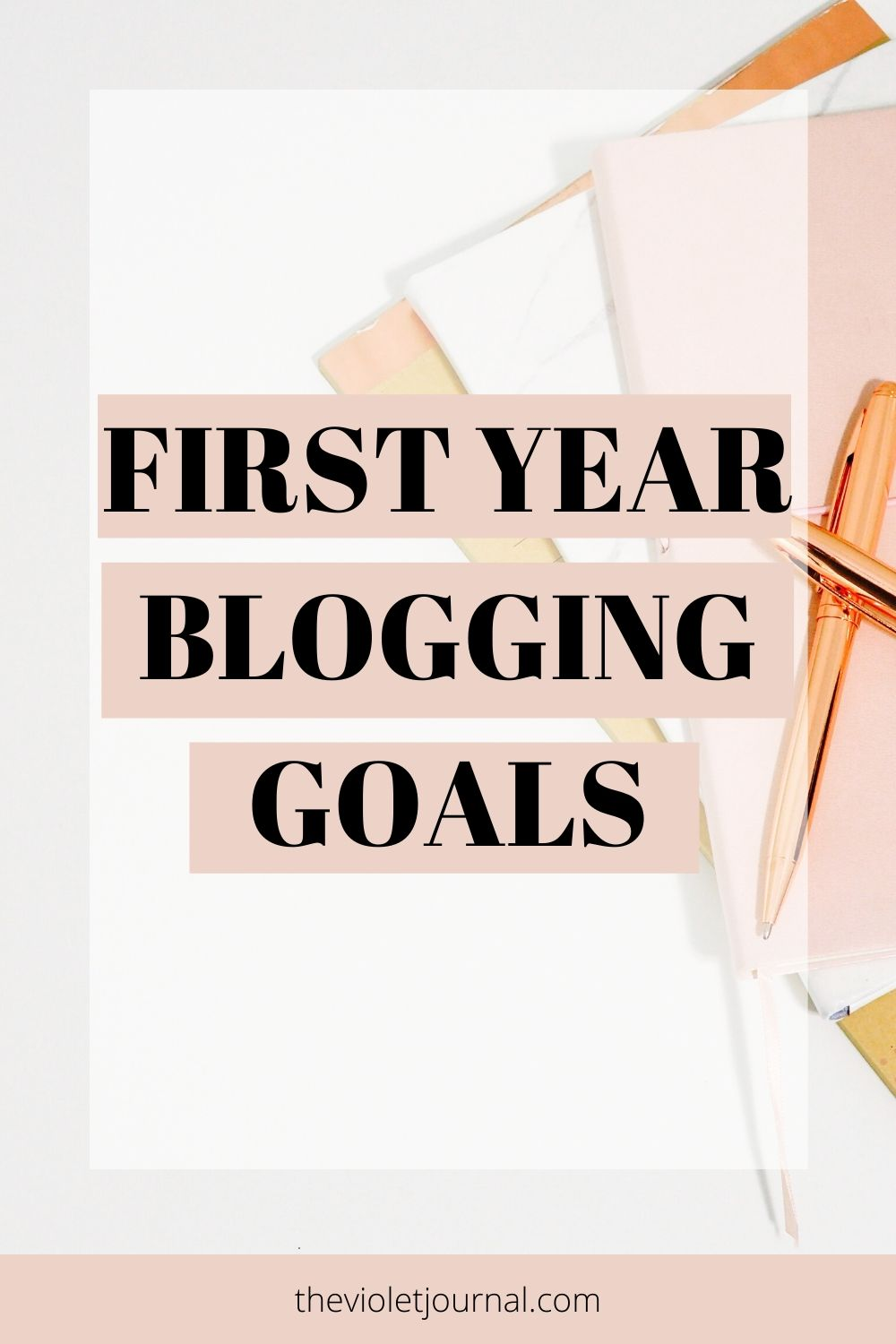first year blogging goals