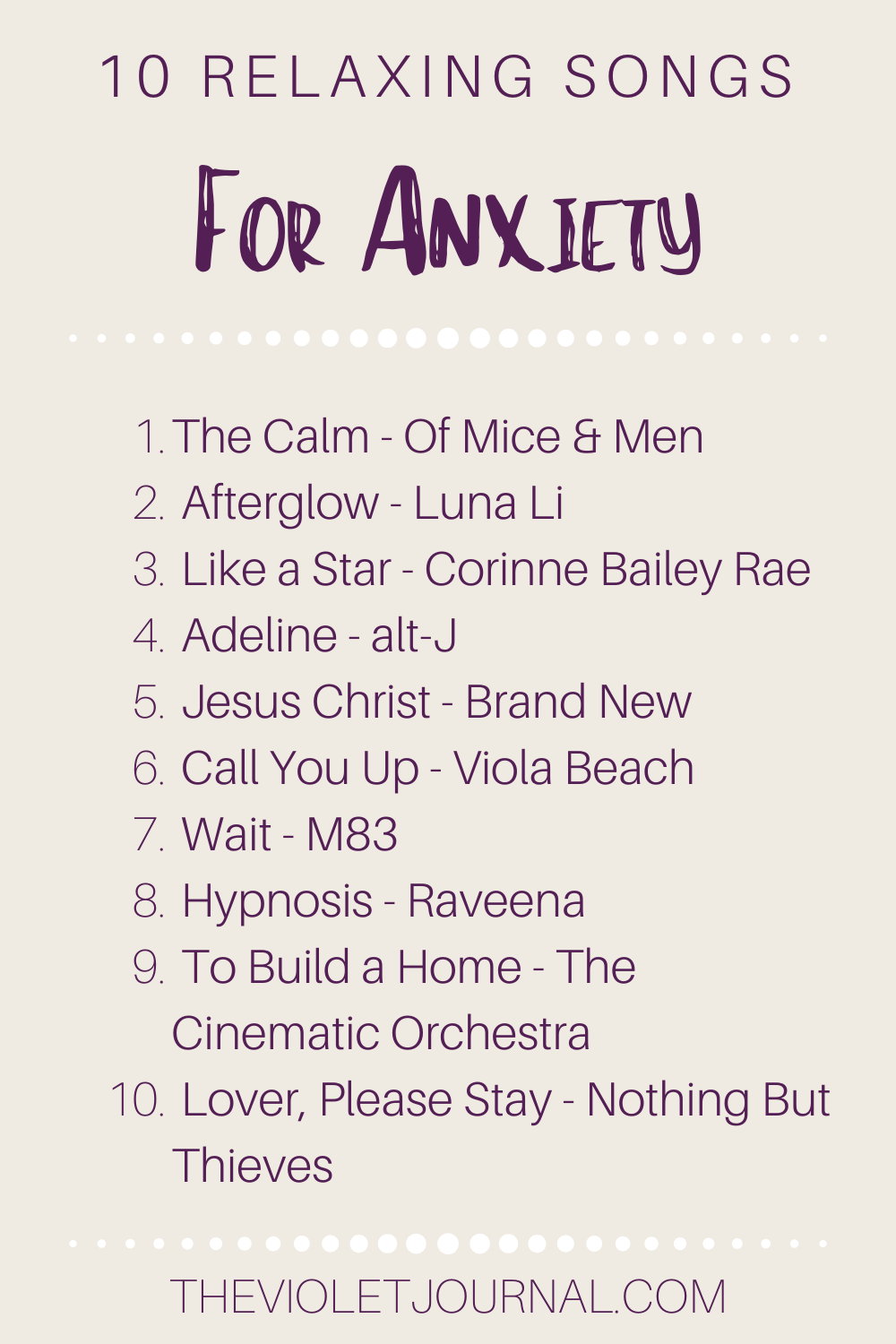 relaxing songs to help reduce anxiety