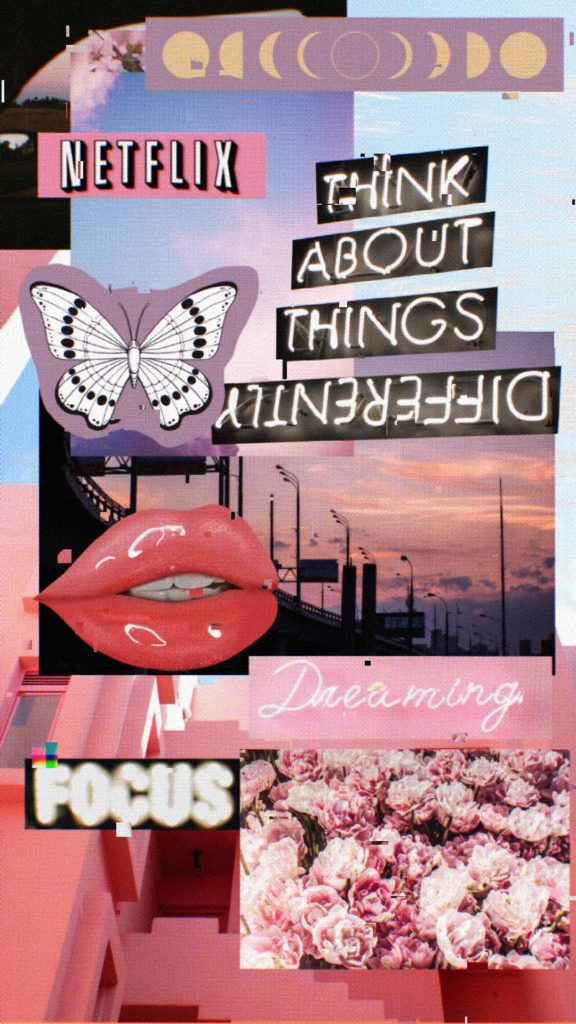 Pink Aesthetic VSCO Collage Wallpaper
