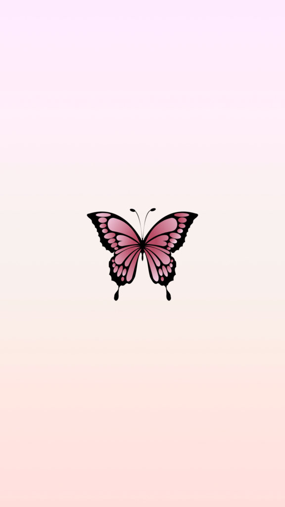 free aesthetic phone backgrounds pink butterfly