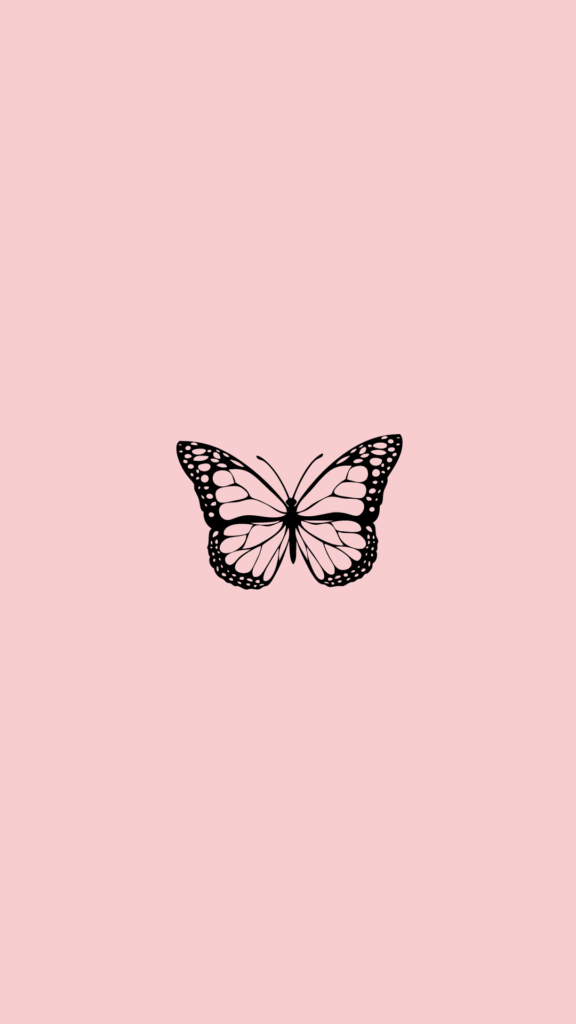 free aesthetic iphone wallpaper butterfly