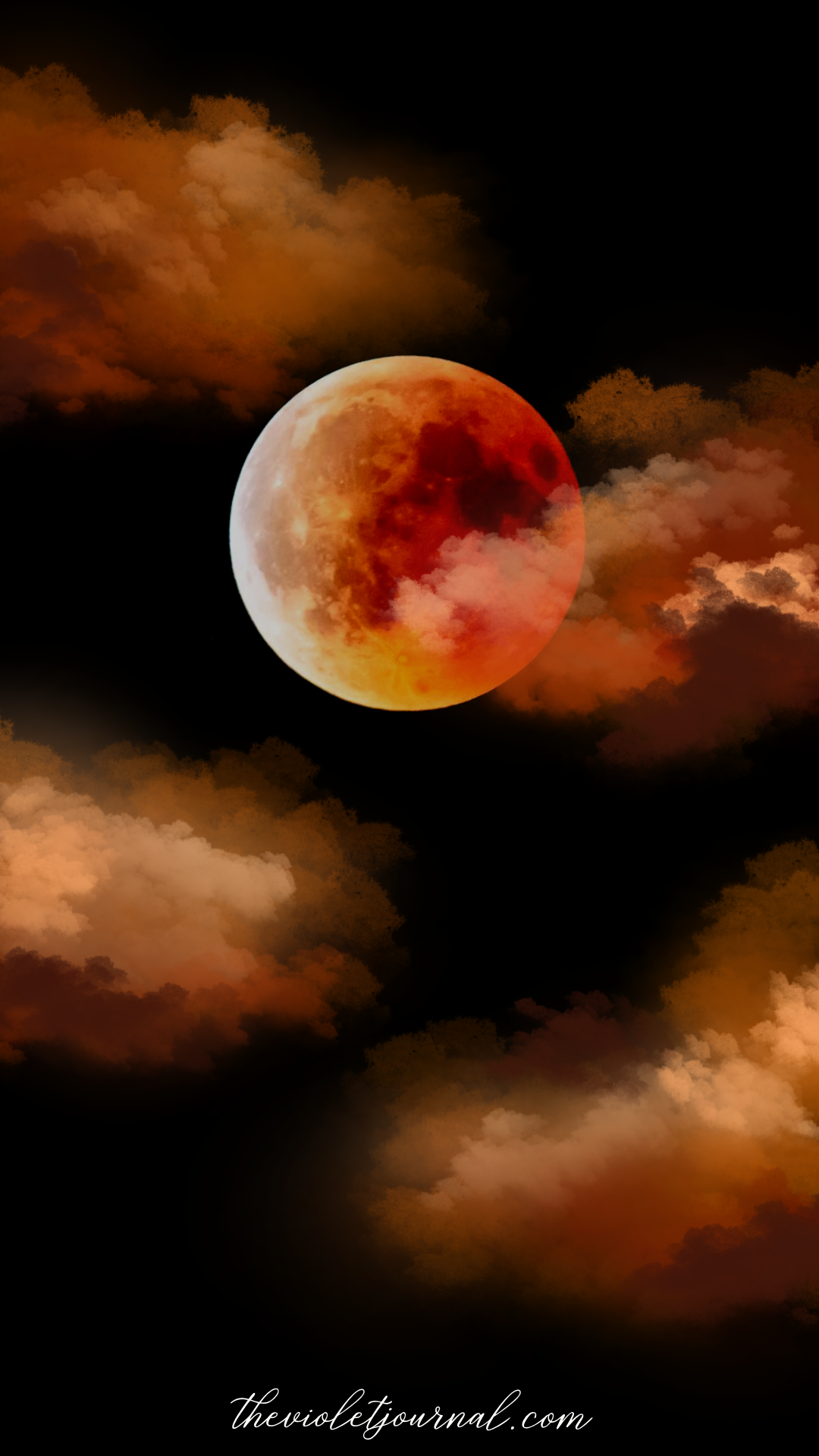 blood moon iphone wallpapers for halloween