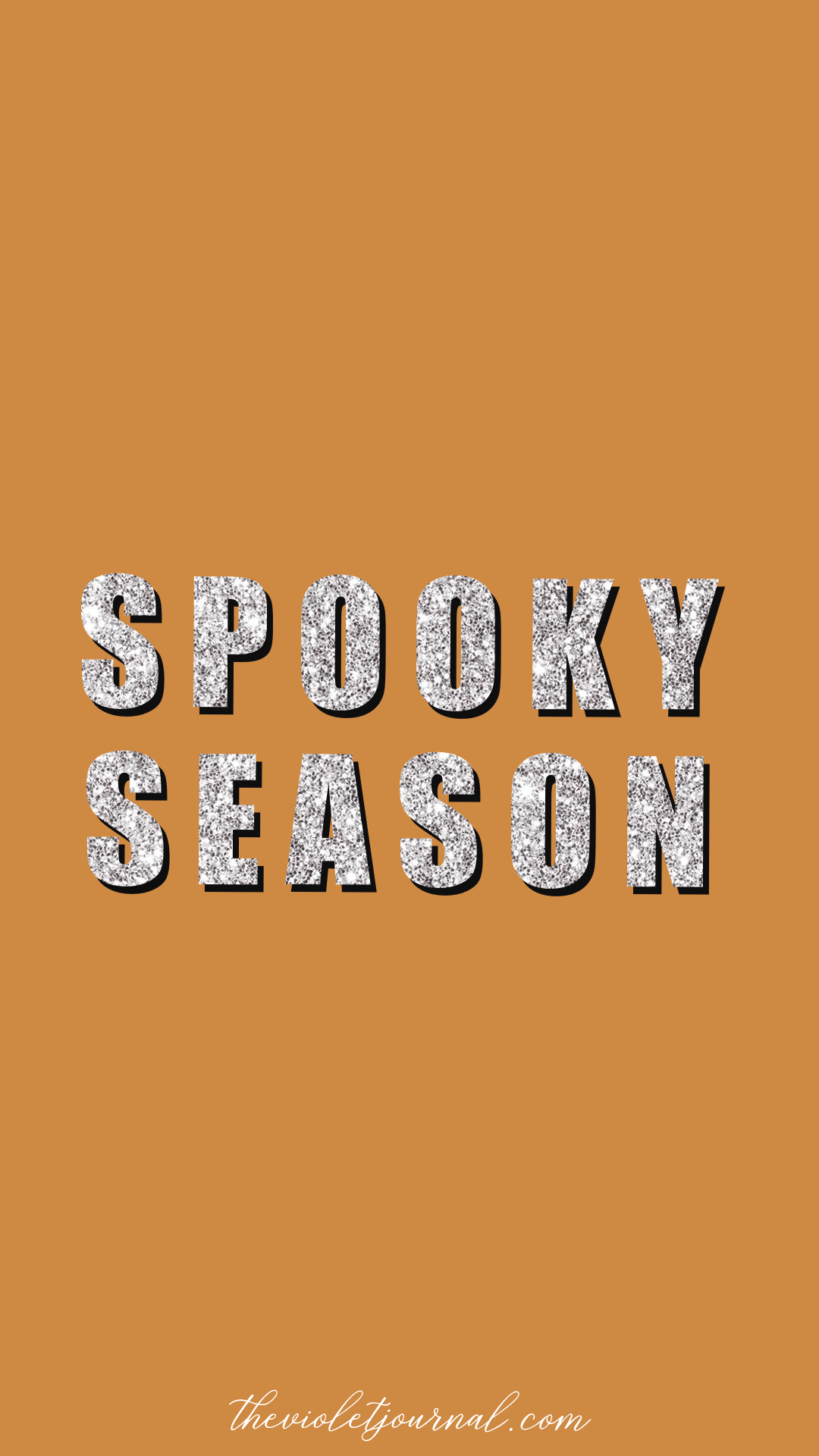 orange spooky season iphone wallpaper