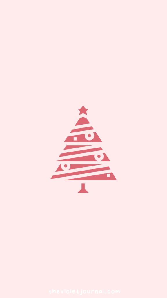 Pink Christmas Tree Wallpaper