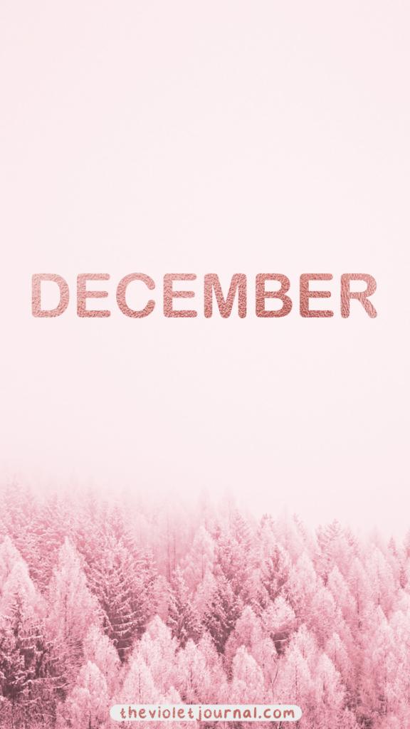 Pink December Wallpaper