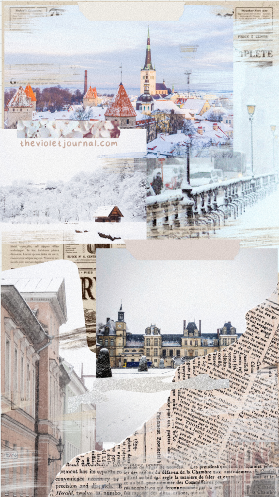 Aesthetic collage winter wallpaper