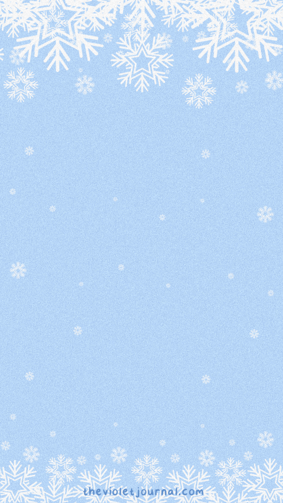 blue christmas wallpaper with snowflakes