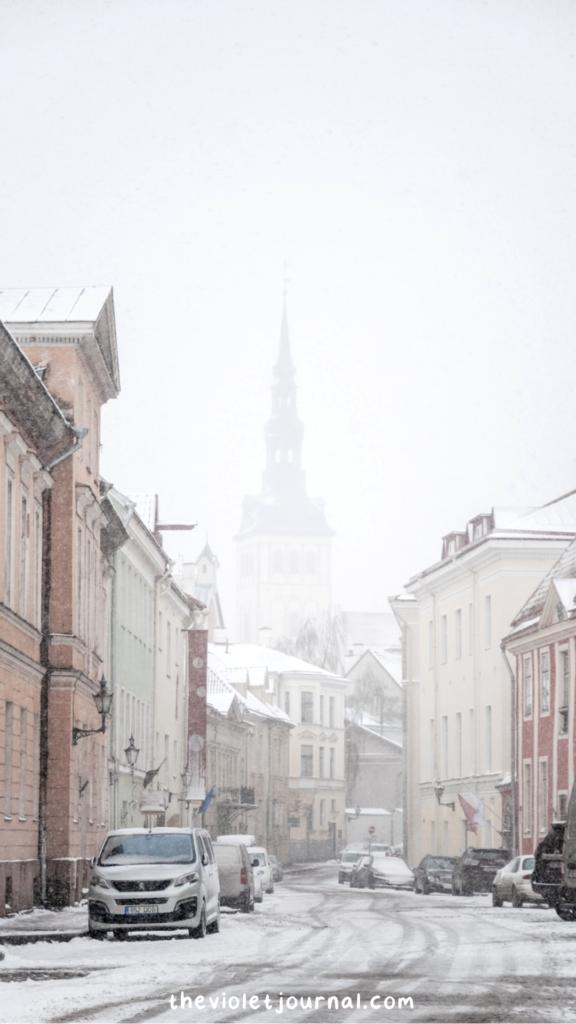 snowy city christmas iphone wallpaper