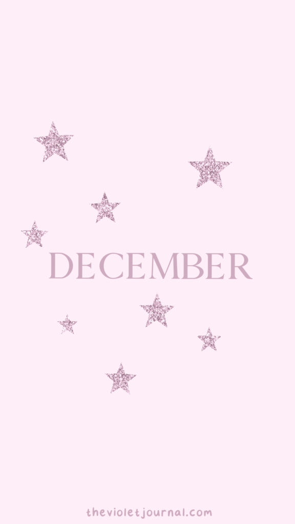 Pink December Wallpaper for Christmas