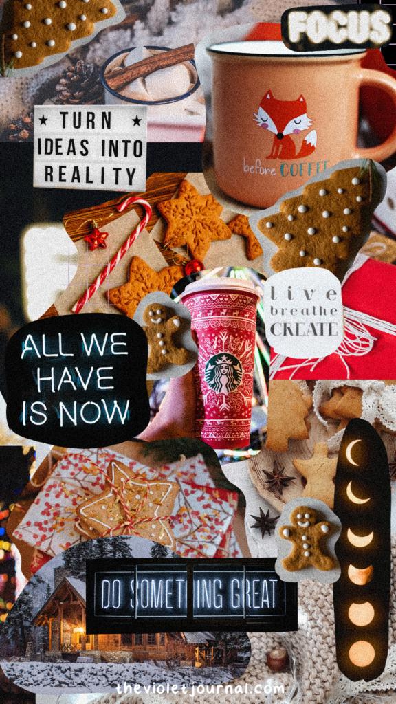 VSCO Collage Christmas Wallpaper