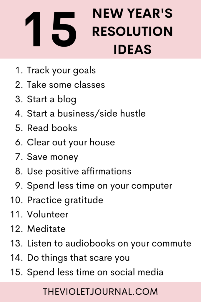new year's resolution ideas for a successful year