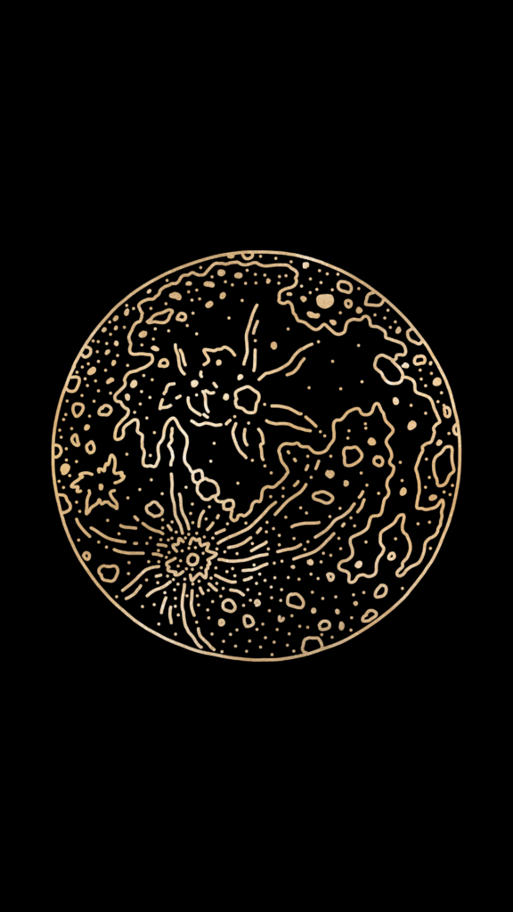 black and gold celestial wallpaper