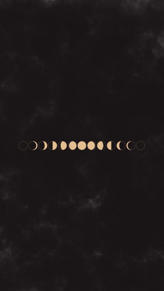 moon phases celestial wallpaper