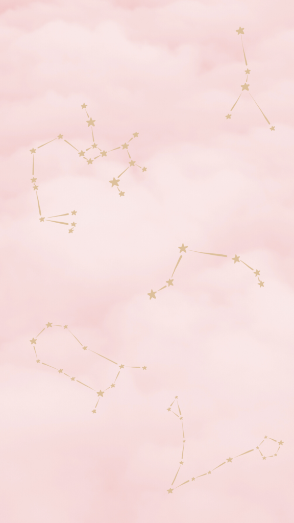 pink clouds star sign wallpaper