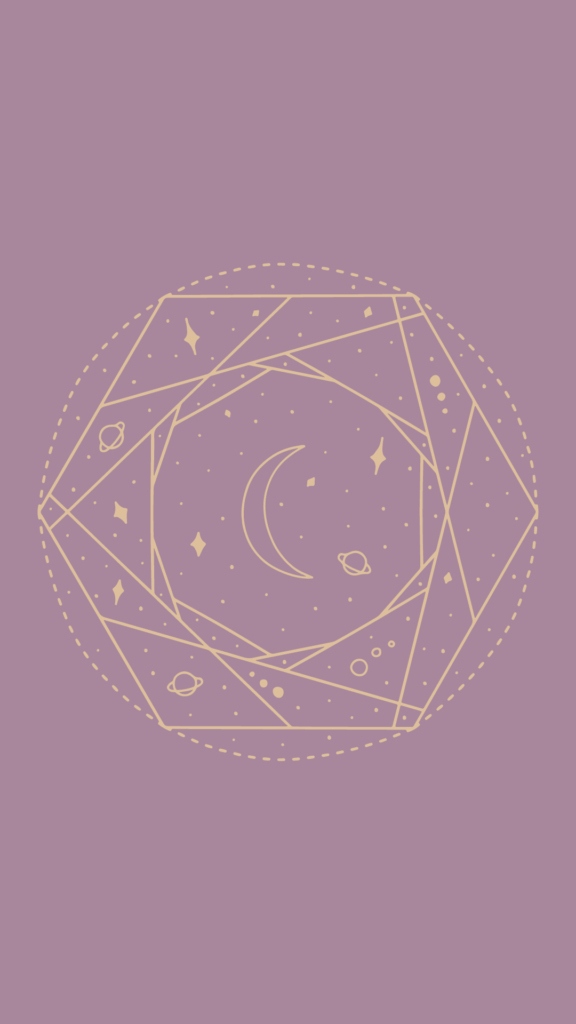 purple and gold celestial wallpaper