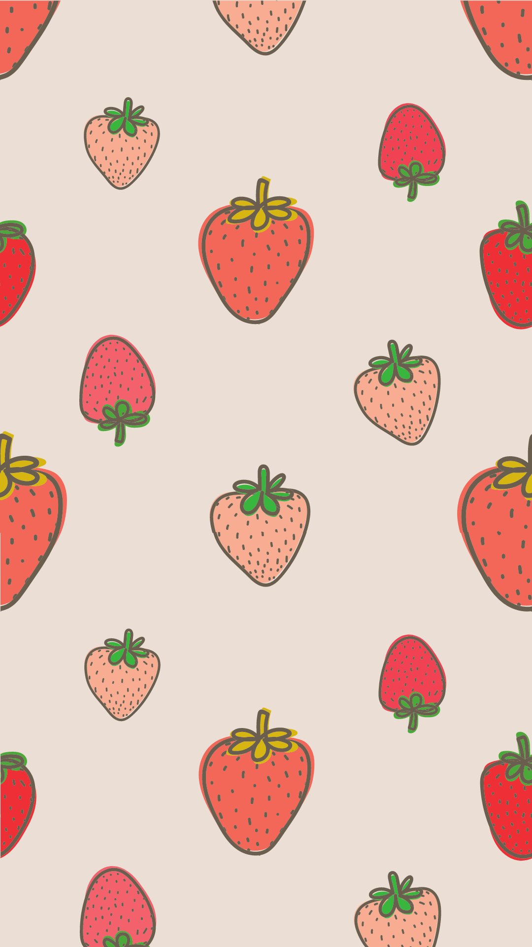 cute strawberry spring wallpaper