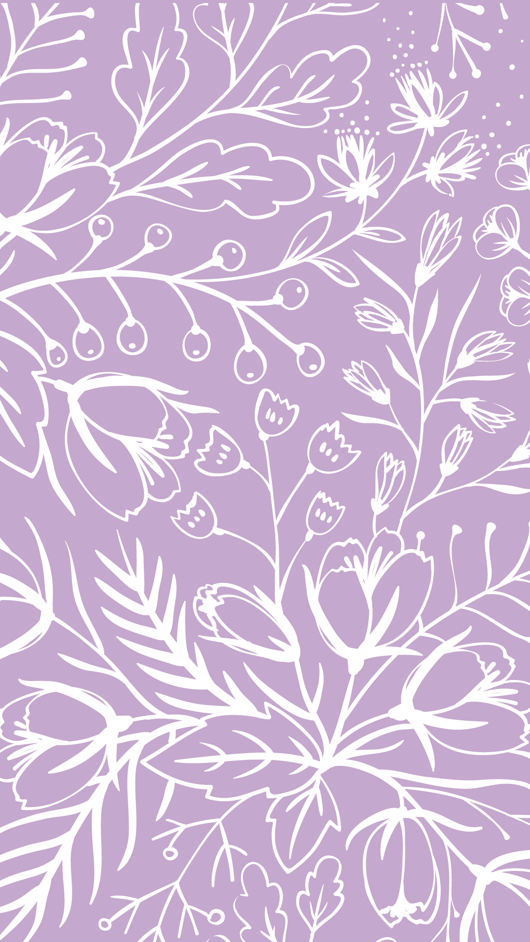purple wallpaper spring