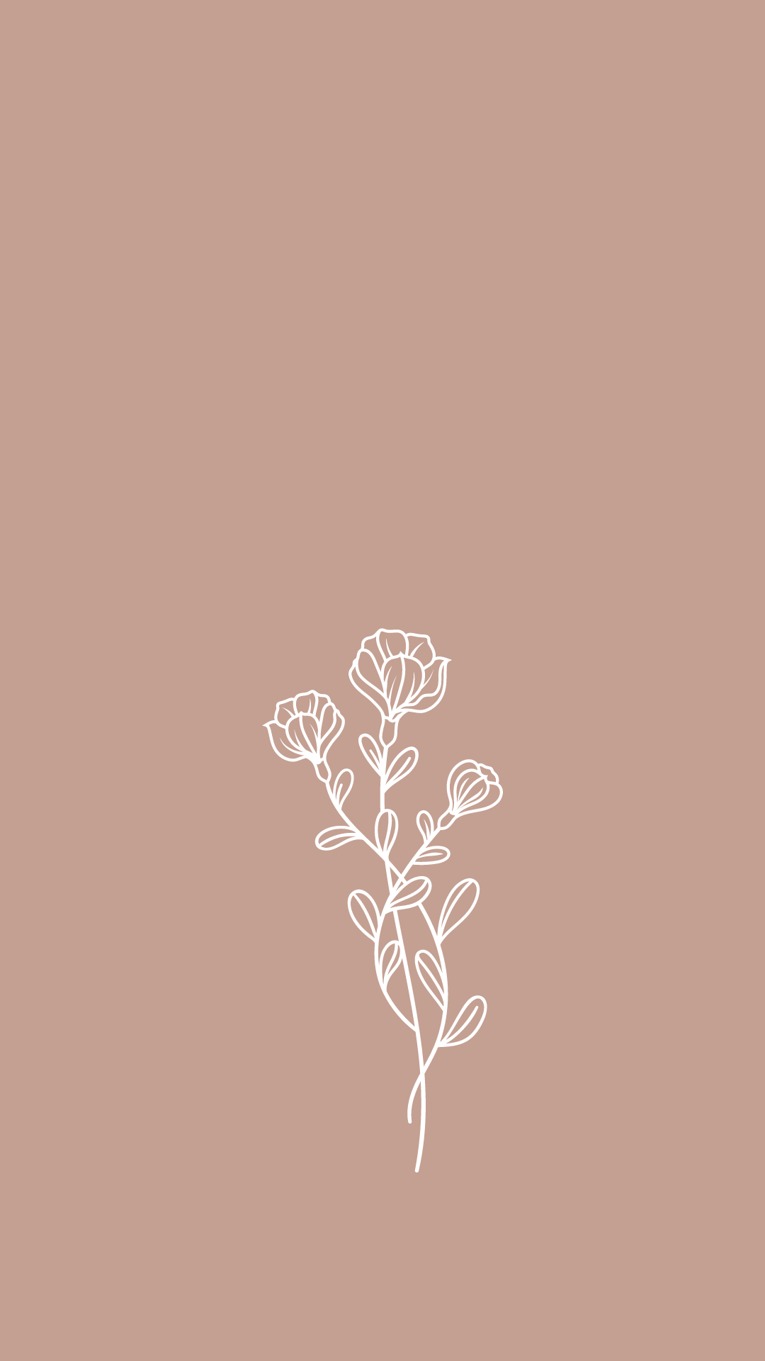 minimal wildflower wallpaper